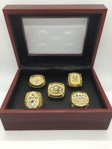 5 Pcs San Francisco 49ers Super Bowl Championship Ring Set with Display Box