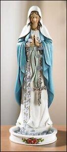 Old Vintage Religious Ceramic Saint Figurine Statue Rosary Holder 8 inches
