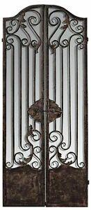 AF Range : Metal Iron Screen with Mirror : Room Divider : Floral Pattern