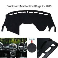 Black Car Dashboard Cover Dash Mat Sun shield Pad Fit For Ford Kuga 2 2015