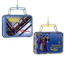 Beatles Collectibles: 2013 Kurt Adler Replica Lunch box Christmas Ornament Set