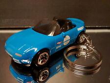 1991 Mazda MX-5 Miata Key Chain Ring Blue