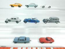 BH87-0,5# 8x Wiking H0/1:87 PKW-Modell: Porsche+Ford+NSU+Opel 8 r+Horch etc s.g.