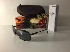 New VERY RARE! Maui Jim AKONI Polarized Sunglasses 117-02 Black/Grey Glass