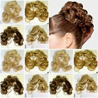 STRANDED CURLY FLICKY HAIR TWIRL MESSY SCRUNCHIE WIRED WRAP UPDO HAIRPIECE.