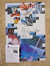 Roger Waters Pink Floyd Signed Autograph 24x36 Poster BAS Certified The Wall #6