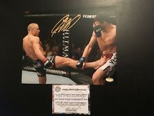GEORGES ST-PIERRE SIGNED 8X10 PHOTO SCHWARTZ COA AUTOGRAPHED UFC FIGHTER