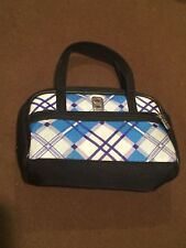 Nintendo DS Small Compact Plaid Blue Video Game Purse Travel Case Bag Tote