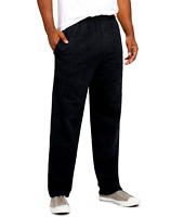 (2 PACK-1 Black & 1 Grey) Hanes Men's Fleece Sweatpants w/Pockets, 3XL