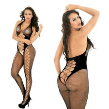 Sexy Bodysuit Stocking Crotchless Fishnet Open Crotch Lingerie Nightwear B8961
