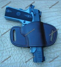 Taurus 1911 With Rail Cross Draw Leather Gun Holster Right Hand Brown