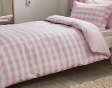 Bianca Cottonsoft Pink Gingham Double Duvet Cover Set