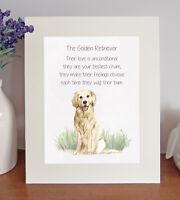 Golden Retriever BESTEST CHUM Novelty Poem 8 x 10 Picture/10x8 Print Fun Gift