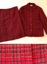 Pendleton Wool Plaid Vintage 50's Women's 2 Pc Suit Jacket and Skirt Lot