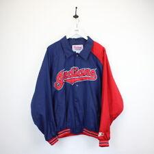 Vintage MLB STARTER Cleveland INDIANS Diamond Collection Baseball Jacket | Large