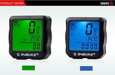 INBIKE Waterproof Backlight Bike Computer Bicycle Computer Digital Speedometer