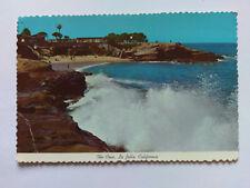La Jolla California Vintage colour Postcard c1970s The Cove