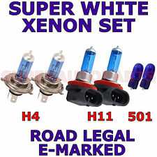 FITS JEEP CHEROKEE SUV 2014+ SET 4 x H4 2 x H11 + 501 ( W5W) XENON LIGHT BULBS
