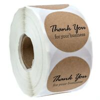 1.5 Inch Round Kraft Thank You For Your Business Stickers/500 Labels Per Ro W3D4