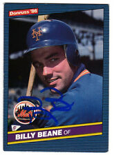 MONEYBALL Billy Beane 1986 Donruss New York Mets SIGNED CARD AUTOGRAPHED