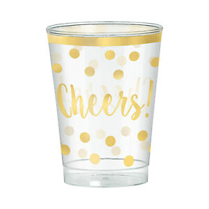 Cheers! New Year Plastic Party 295ml Tumblers x 30