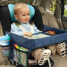 Baby Car Seat Table Kids Travel Tray Drawing Board Waterproof Safety Snack
