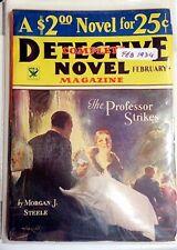 "Pulp Magazine: COMPLETE DETECTIVE NOVEL Feb 1934. M J. Steele ""Professor Strikes"