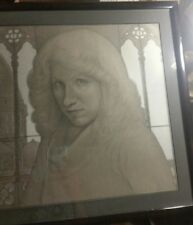 Rare 1982 Barton J. Faist Framed Pastel Portrait Of Sharon Zelevas In Italy