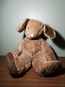 "Vintage 24"" Big Brown Stuffed Plush Bunny Rabbit Animal Toy"