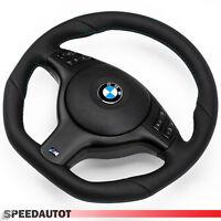 Échange Aplati Volant en Cuir BMW M-POWER E46, E39 Volant Noir Couverture Multi