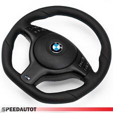 Tuning aplanada volante de cuero bmw m-Power e46, e39 volante negro diafragma multi.