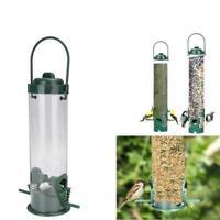 Hanging Wild Bird Feeder Seeds Durable Container Hanger Feeding Garden Outd Q1Z0