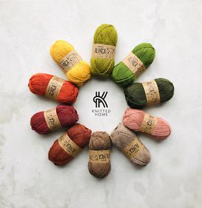 10x50g 100% Superfine Peruvian Alpaca 4ply yarn knitting crochet gift set FOREST