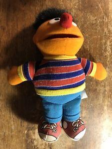 "Vintage Sesame Street Ernie Doll Plush Stuffed Toy 7"""