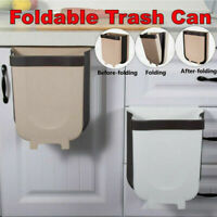 Car Folding Waste Bin Hanging Trash Can Storage Bucket Kitchen & Dining
