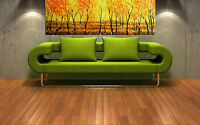 "Print bush scrub fire dream australia painting canvas landscape art 36"" 90cm"