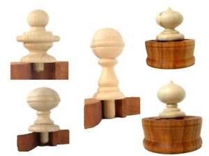 Wood Furniture, Finials Unfinished Post, Clock, Cap, Craft