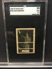 1926-27 Aguilitas #785 Jack Dempsey SGC 1.5 Fair Rare Only 5 Graded
