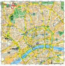 2 x Stadtplan Frankfurt/Main + Umgebungsplan + RMV Schnellbahnplan + S- + U-Bahn