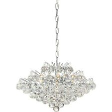 Quoizel Bordeaux With Clear Crystal 7 Light Pendant, Polished Chrome - BRX2820C