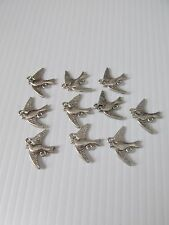 20pcs silver plated bird link connector jewellery making craft UK
