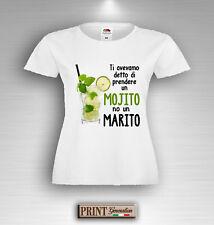 T-shirt Addio al Nubilato MOJITO NO UN MARITO Maglietta Divertente Sposa