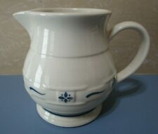 New ListingLongaberger Pottery Woven Traditions 5 5/8� Classic Blue Pitcher Usa Made New