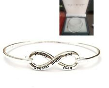 "EQUILIBRIUM INFINITY BANGLE ""Special mum and best friend"" Silver Plated - BNIB"