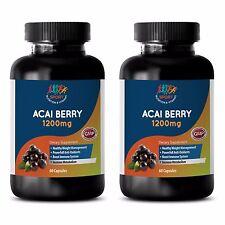 Organic Acai - ACAI BERRY 1200MG - Natrual Way to Cleanse the Whole Body - 2Bot