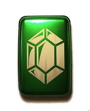 Fantasy Game Gem Currency Green Aluminum Hard Credit Card Wallet