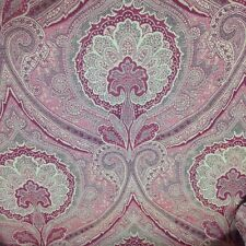 Upholstery DESIGNER FABRIC Tapestry Damask Tan Cranberry wine Red Gold