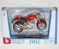 Burago - DUCATI MONSTER 900 (Red) Motorcycle Model Scale 1:18