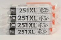 Smart Ink 251XL B Cartridges Black Lot Of 4 HP Replacement