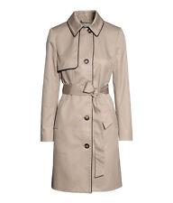 H&M Trenchcoat  Kurzmantel Mantel Jacke Gr.44 beige-schwarz Neu zu Jeans Schuhe